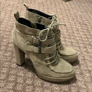 DV by Dolce Vita Heeled Lace-Up Suede Bootie